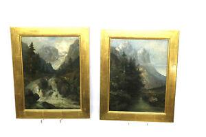 Olgemaelde-Paerchen-CIMA-PRESANELLA-Suedtirol-Italien-1891-Sig-Langer