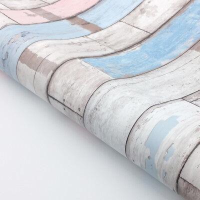 Decorative Self Adhesive Scrapwood Wallpaper Shelf Liner Ebay