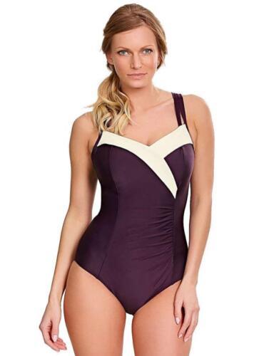 Panache Portofino Swimsuit with hidden Bra Aubergine 0950 DD-H CUP