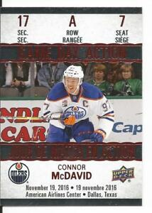 Ebay Canada Carte Hockey.Details About 17 18 Connor Mcdavid Game Day Action Tim Hortons Canada Insert Card Gda 7 Mint