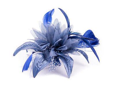 Womens//Girls Cream Hair Flower feather Fascinator On Comb Weddings Races Proms