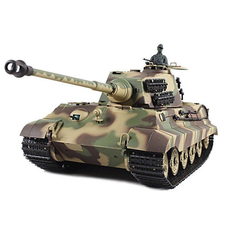 2.4Ghz 1 16 Geruomo re  Tiger Henschel Turret RC Battle Tank w Smoke & suono RTR  negozio fa acquisti e vendite