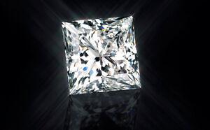 0.45ct VVS1-G Princess Cut Single Loose Diamond 4.0mm Princess Loose Stone