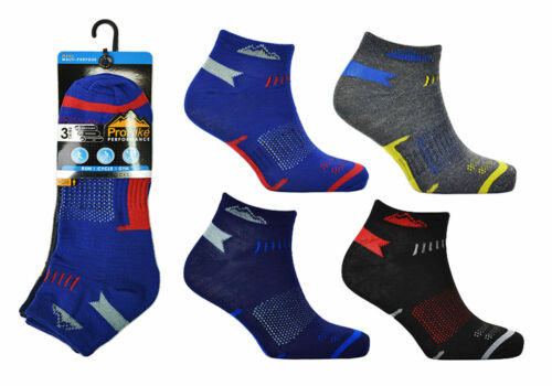 12 Pairs Men/'s Prohike Trainer Liner Ankle Sports Socks UK Size 6-11