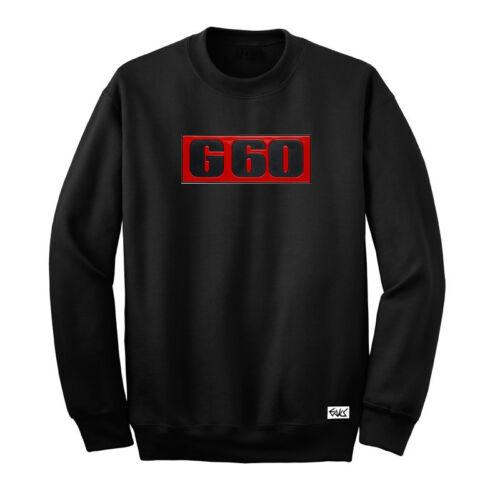 """Eaks ® señores sudadera /""""g60-letras cheers/"""" negro logotipo emblema suéter suéter culto"""