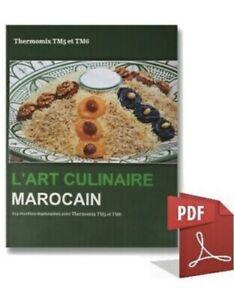 Livre-255-Pages-Recettes-L-art-Culinaire-Marocain-Thermomix-Monsieur-Cuisine
