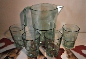 BACARDI-MOJITO-GLASSES-X-4-WITH-THE-EMBOSSED-BAT-and-Bacardi-Pitcher