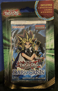10 Cards Yugioh Dark Crisis Booster Blister 2 rares 8 common - New /& Sealed