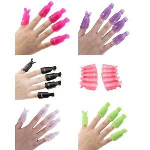 10Pcs-Plastic-Acrylic-Nail-Art-Soak-Off-Clip-Cap-UV-Gel-Polish-Quick-Remover-US