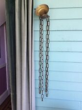 Antique  Hanging Light Fixture Brass Chandelier Ceiling Canopy 4 Chains