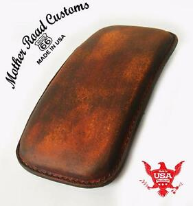 Image Is Loading 201 Brown Distressed Leather Seat P Pad Chopper