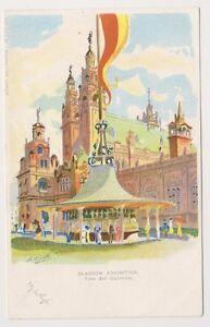 Glasgow Exhibition postcard - Fine Art Galleries by A H Scott (Artist) (A98)