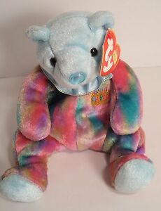 6a7b1321108 TY BEANIE BABIES ~ BIRTHDAY BEANIES MARCH BEAR 2001 w tags ~ Cuddly ...