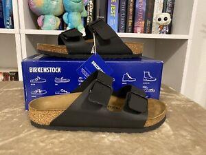 New BIRKENSTOCK Unisex ARIZONA BS Sandal 40 US L9 M7 BLACK Regular
