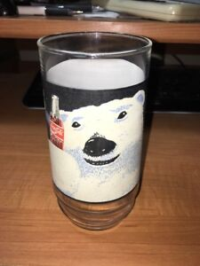 Vintage-1995-Coca-Cola-Coke-Always-Cool-Polar-Bear-Drinking-Glass-Tumbler-16-0z