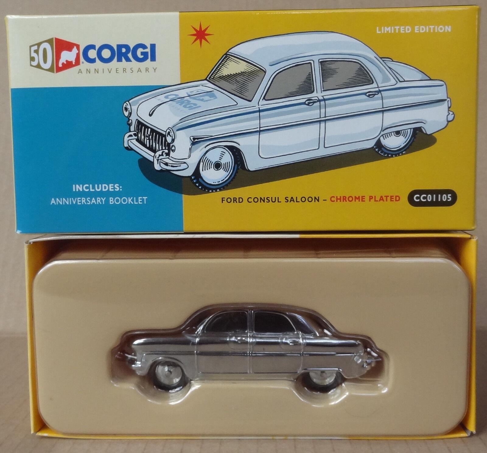 Corgi Classics-CC 01105 CORGI 50th Anniversaire-FORD CONSUL chromé En parfait état, dans sa boîte