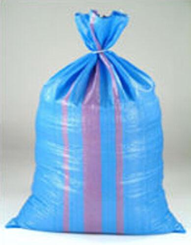 50 x Sandsack  Säck  Schwerlastsack Gewebesäcke 50 x 85 cm  Getreidesack blau