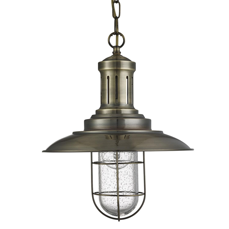 PÊCHEUR Raccord laiton vieilli plafonnier pendentif Raccord PÊCHEUR Caged Shade Home Lights ae54cc