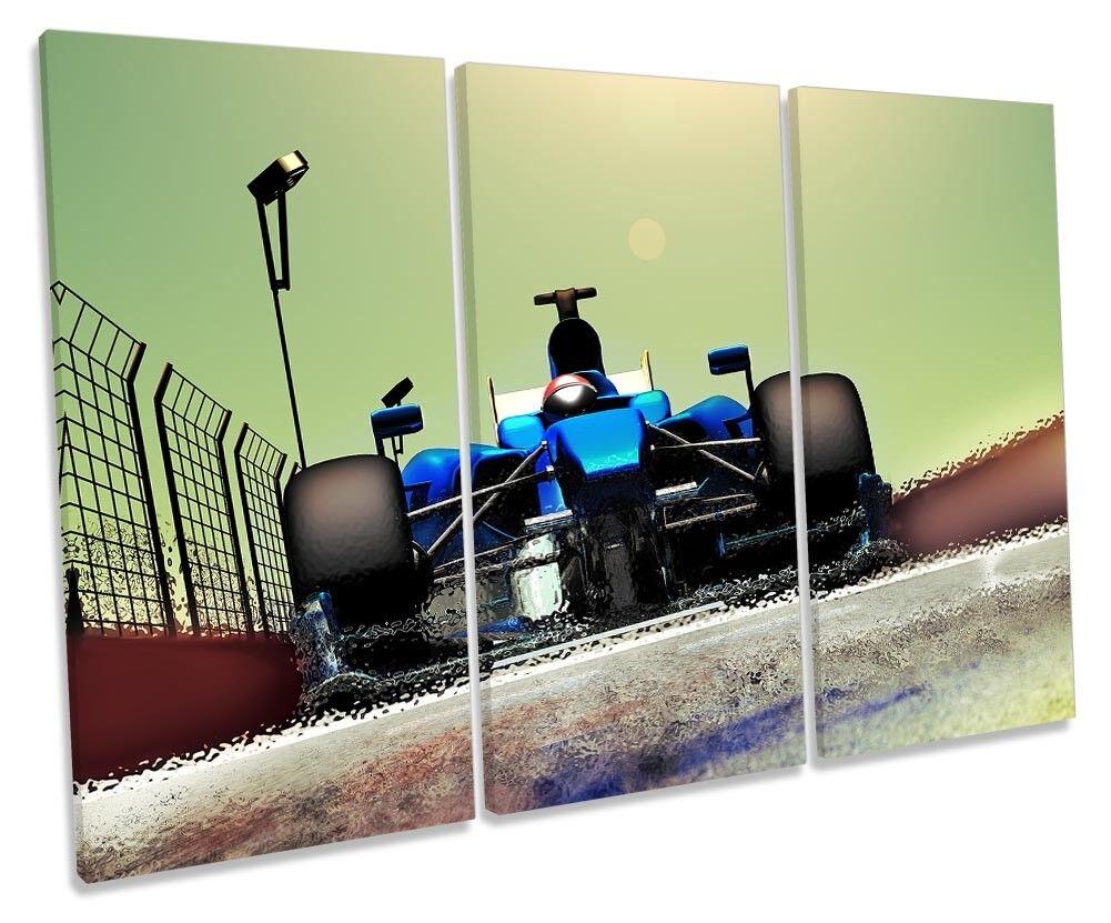 Race Car Fast Formula One Bild TREBLE CANVAS Wand Kunst Drucken