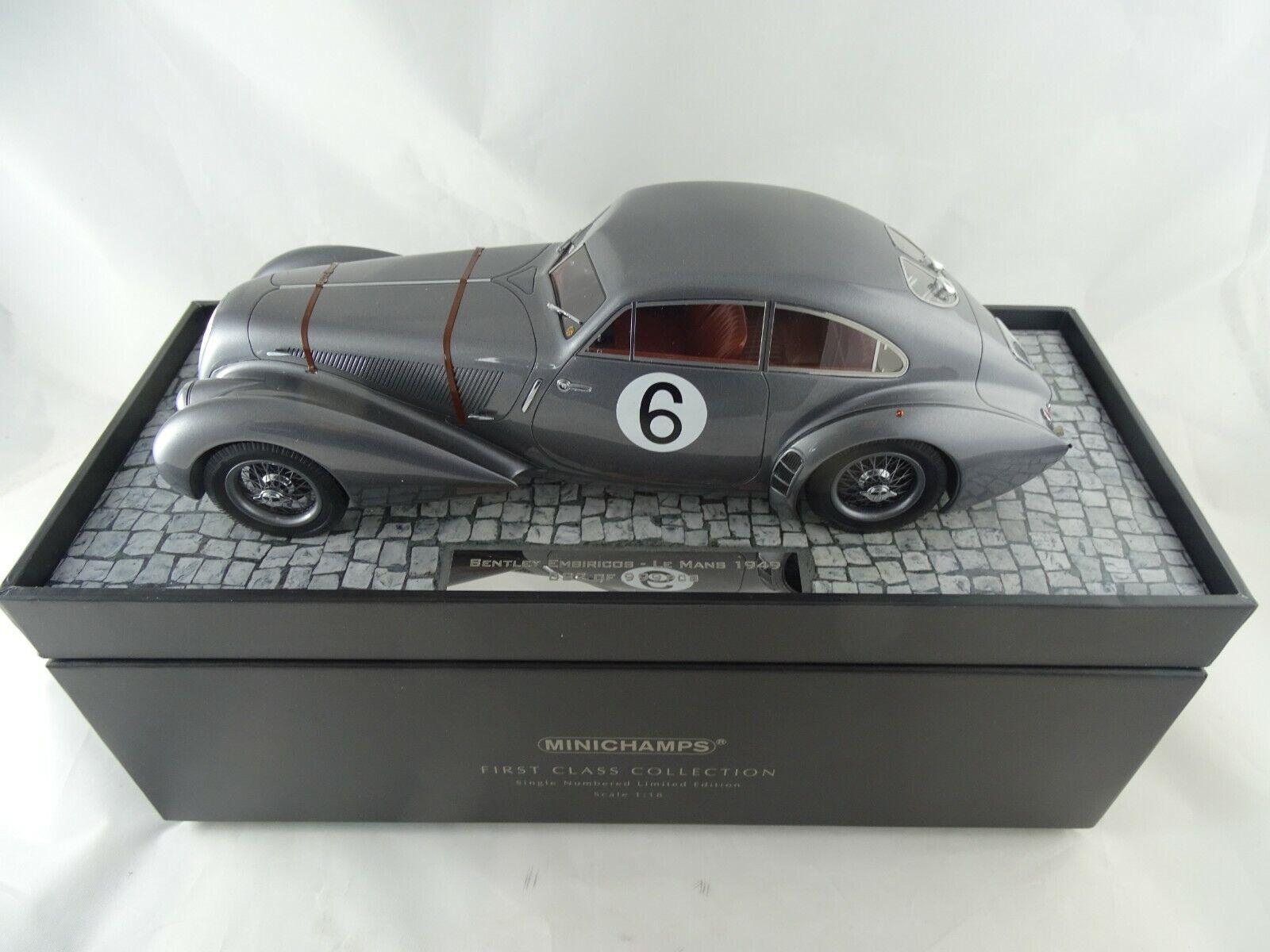 1 18 Minichamps 107491396  1949 Bentley Embiricos HayWISDOM LE uomoS  6 rarità