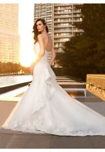 Wedding-Dress-Essense-of-Australia-D1448-Label-Size-6-Altered-33-27-36