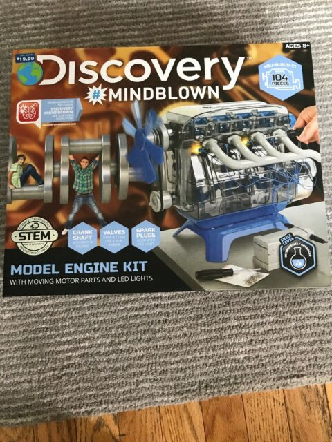 DISCOVERY MINDBLOWN Model Motor Engine Kit STEM Ages 8+ NEW 100 Piece Kit