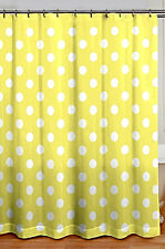 Item 8 Chic Shabby Cottage Style Yellow Polka Dot Fabric Shower Curtain 72 X Nwt