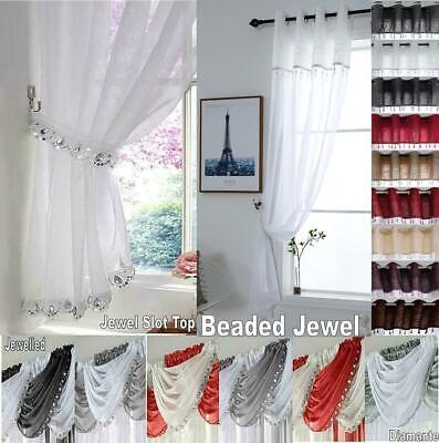 Diamante Jewelled Glitter Sequin, Sparkle Curtain Panels