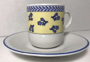 Demitasse-Espresso-Cups-And-Saucers-Cipa-Italy-Set-Of-5-Cups-4-Saucers