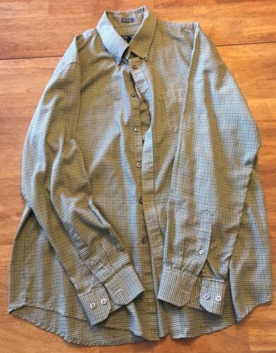Details about  /Men/'s 14 14 1//2 S//P VanHeusen Brown Plaid Button Down Long Sleeve Shirt NEW