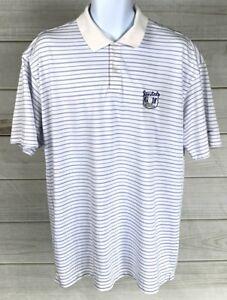 Nike-Golf-Men-039-s-Tour-Performance-Polo-Dri-Fit-Sz-XL-Striped-White-Blue-EUC-A6010