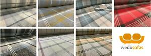 Tartan-Balmoral-Fabric-Soft-Textured-Washable-Wool-Effect-Upholstery-Quality