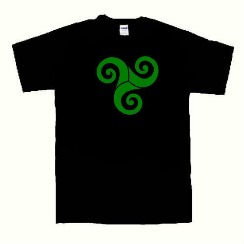 The triple spiral symbol t shirt triskelion shirt  Small to 2 Extra Large size