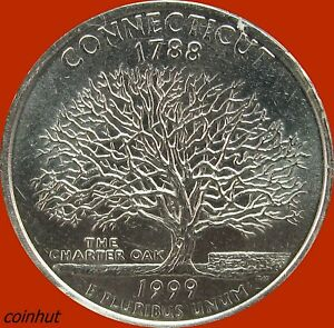 1999-P-BU-State-Quarter-Dollar-Connecticut-Coinhut2075