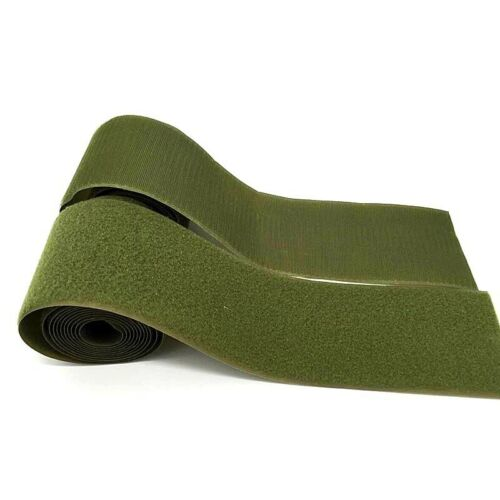 50mm Olive Green Velcro® Textile Tape Hook Loop Sew Stitch On Fabric