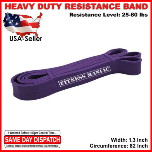Pull Up Exercise Bands For Resistance Body Stretching Fitness 25-80 lbs