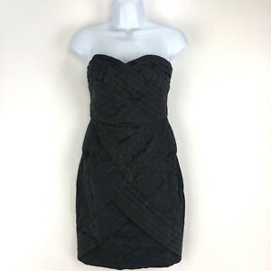 56daddcc52 Jean Paul Gaultier For Target Strapless Dress Size 3 Black Texture ...
