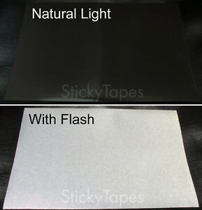 Hi-Viz Scotchlite Black Reflective Adhesive Film Tape for Shop Sign Car Bike