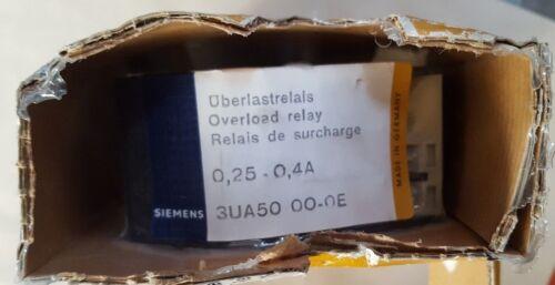 SIEMENS 3UA5000-0E Overload Relay IN14S3B4