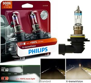 Philips-X-Treme-Vision-9006-HB4-55W-Two-Bulbs-Head-Light-Low-Beam-Replacement-OE
