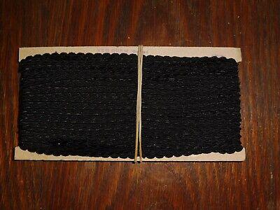 Aktiv (0,40€/m) Schwarz Zackenlitze/litze, Höhe Ca.0,7cm 50m Auf Der Pappe Ddr Opew KöStlich Im Geschmack