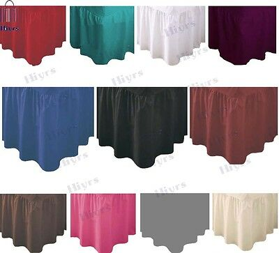 Bed Valance Fitted Sheet Bedding Pillowcases Lace New Long lot size double king