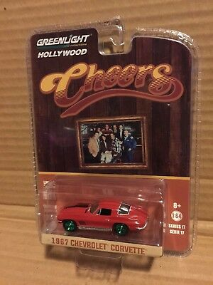 1967 /'67 CHEVY CHEVROLET CORVETTE CHEERS HOLLYWOOD DIECAST GREENLIGHT 2017