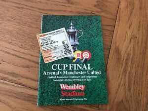 1979-FA-Cup-Final-Programme-AND-Ticket-Arsenal-vs-Man-Utd