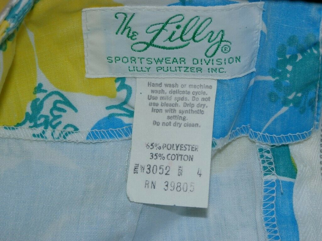 Lilly Pulitzer Vintage Skirt SZ 4 The Lilly 1960s… - image 4