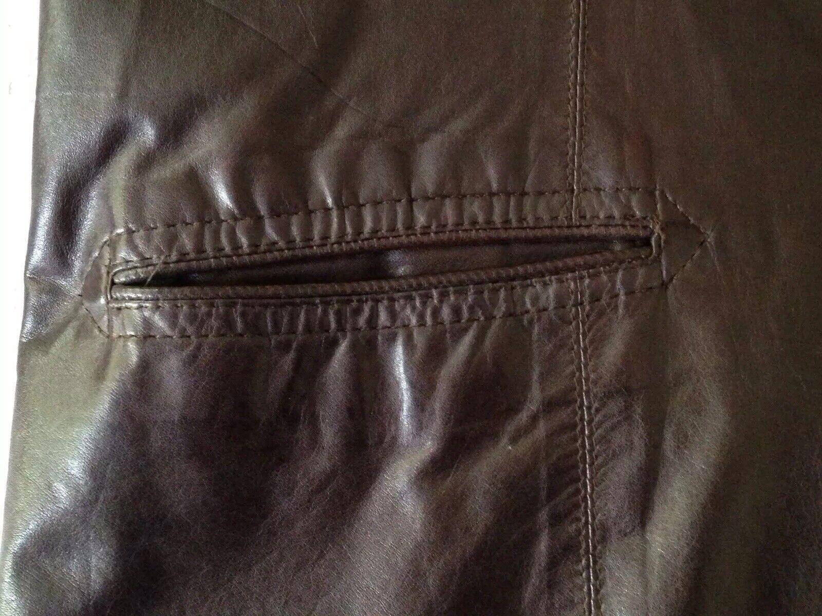 1970S Vintage Women's Dark Brown Leather Blazer J… - image 7