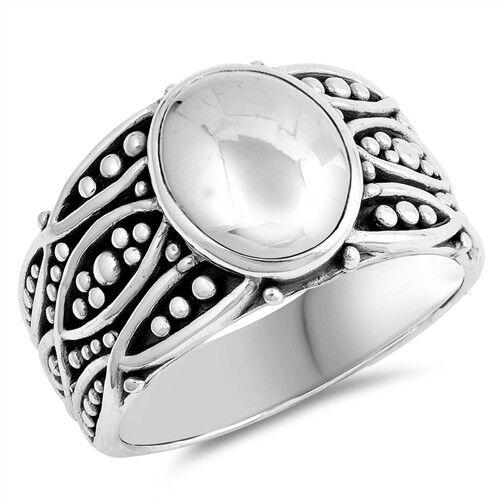 """Nueva Moda /""""Bali/"""" Diseños de Plata de Ley Anillos Tallas 4-12"""