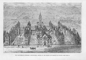 1881-Antique-Print-LONDON-NOTTING-HILL-Marylebone-Infirmary-Royal-Opened-34