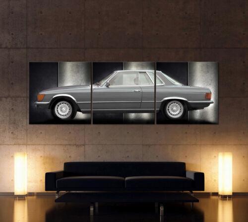 MERCEDES 280 380 350 450 500 SLC Leinwand Bild  C 107 Malereistil Coupé SL W 107