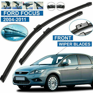 MK2-Wiper-Blades-Ford-Focus-Flat-Windscreen-Aero-For-Front-Blade-2004-2011-Set
